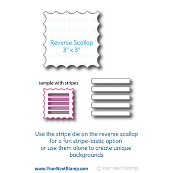 Your Next Die LARGE REVERSE SCALLOP WITH STRIPES YNSD687