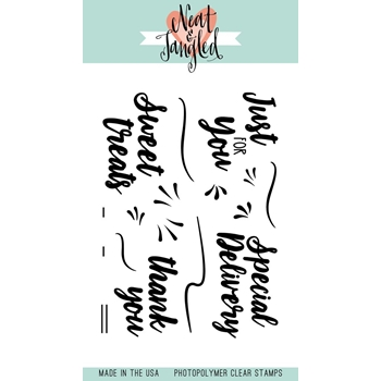 Neat and Tangled SWEET TREAT Sentiments Clear Stamp Set NAT316