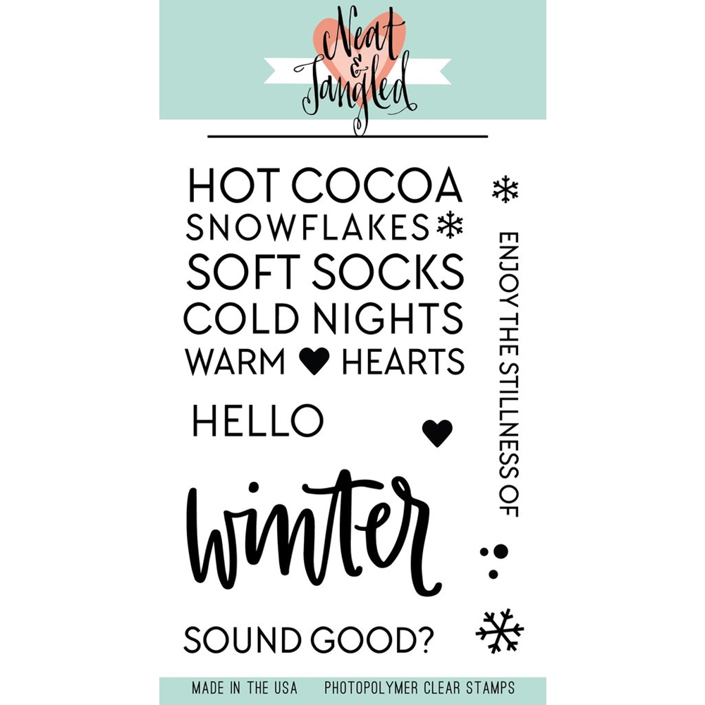 Neat and Tangled HELLO WINTER Clear Stamp Set NAT317 zoom image