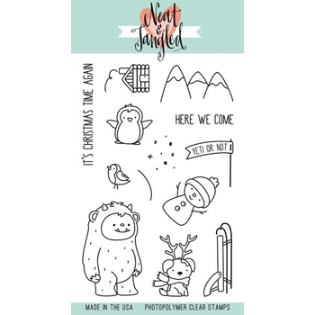 Neat and Tangled GET YETI Clear Stamp Set NAT313
