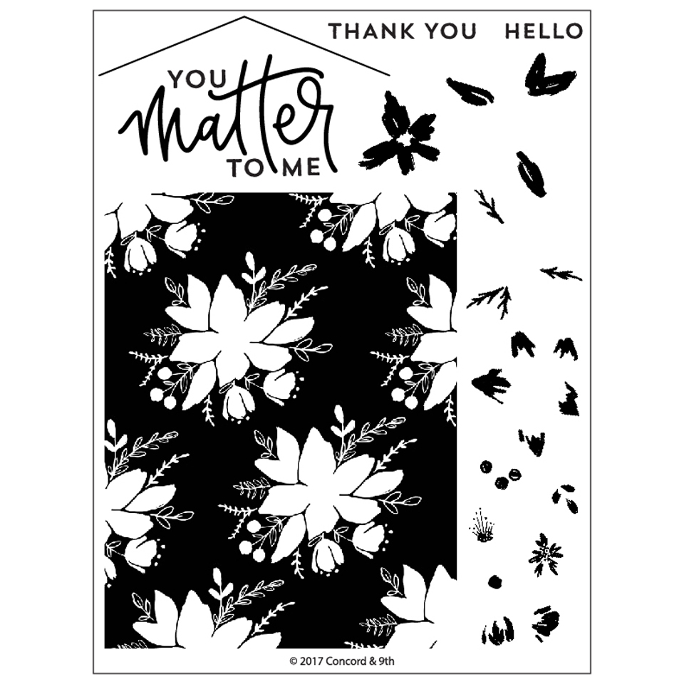 Concord & 9th BLOOMS FILL-IN Clear Stamp Set 10270 zoom image