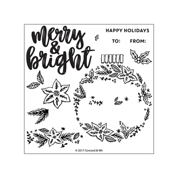 Concord & 9th ORNAMENTAL Clear Stamp Set 10276