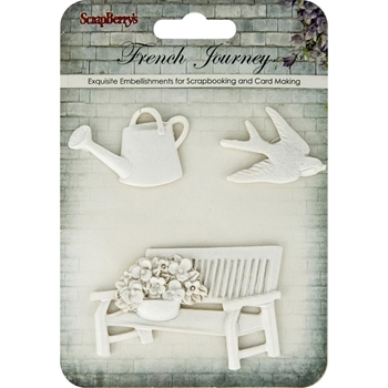 ScrapBerry's FRENCH JOURNEY Polymer Embellishments 26001009