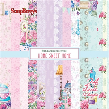 ScrapBerry's HOME SWEET HOME 6 x 6 Paper Pack 610209X