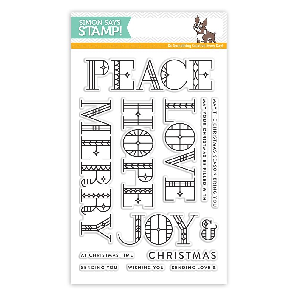 Simon Says Clear Stamps STAINED GLASS GREETINGS SSS101768 Making Spirits Bright zoom image