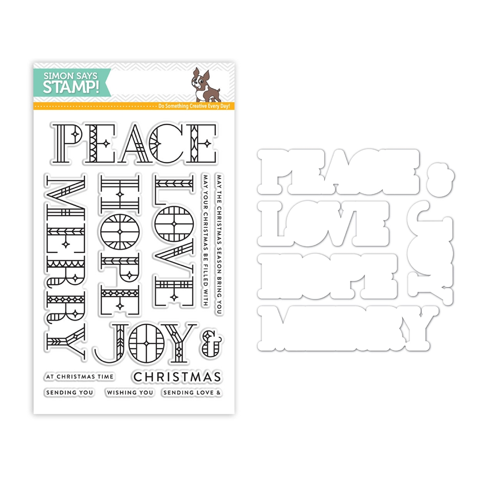 SSS Stain Glass Greetings Stamps and Dies