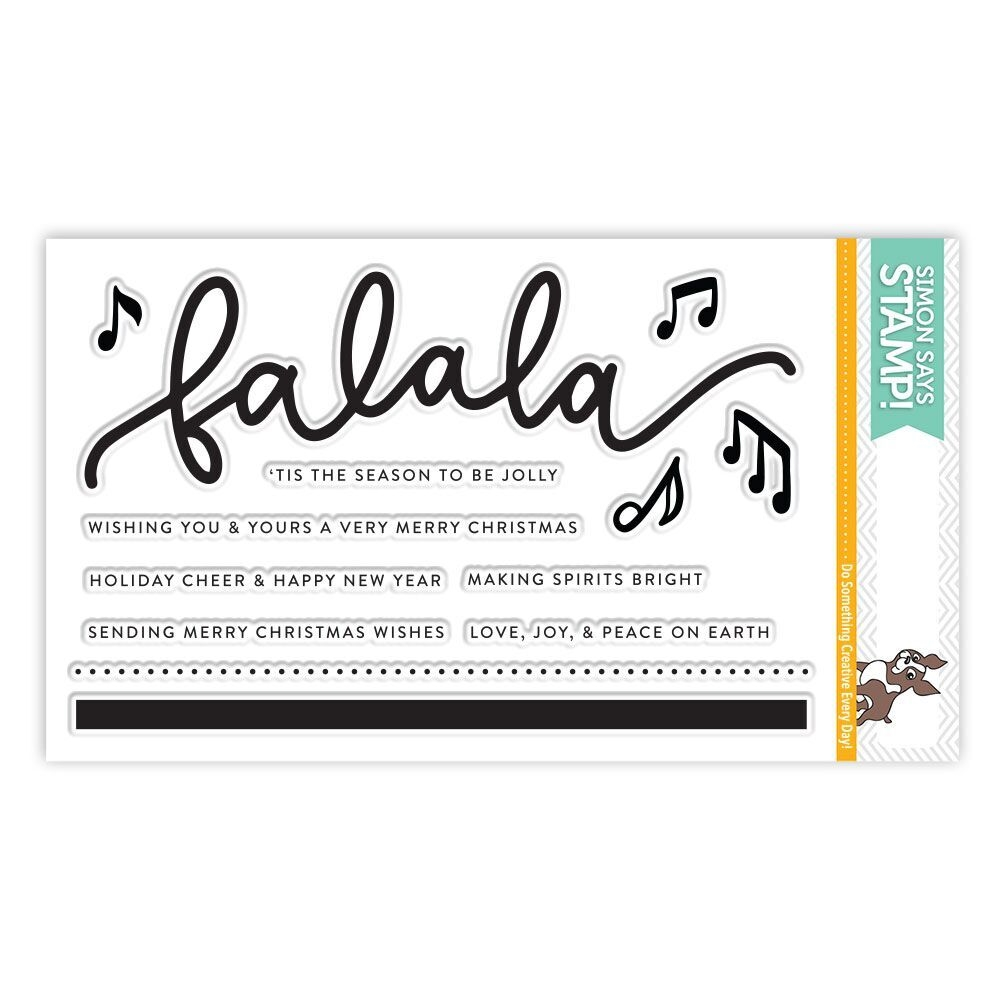 Simon Says Clear Stamps FA LA LA