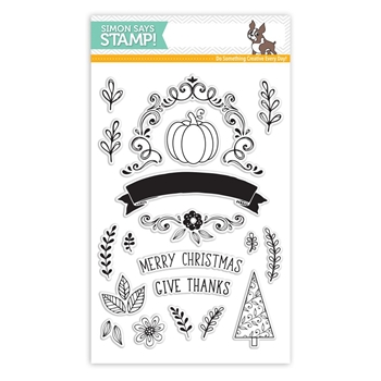 Simon Says Clear Stamps GIVE THANKS SSS101764 Making Spirits Bright