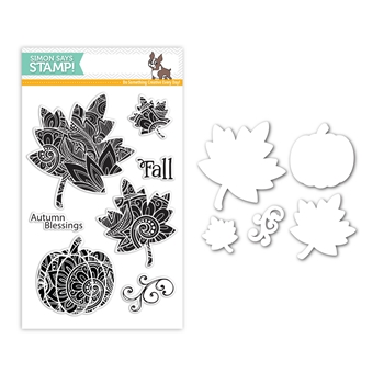 Simon Says Stamps And Dies ORNATE LEAVES Set310OL Making Spirits Bright