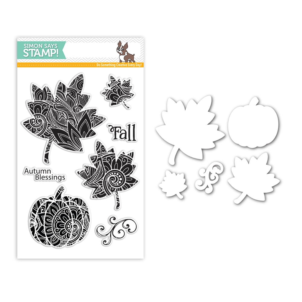 Simon Says Stamps And Dies ORNATE LEAVES Set