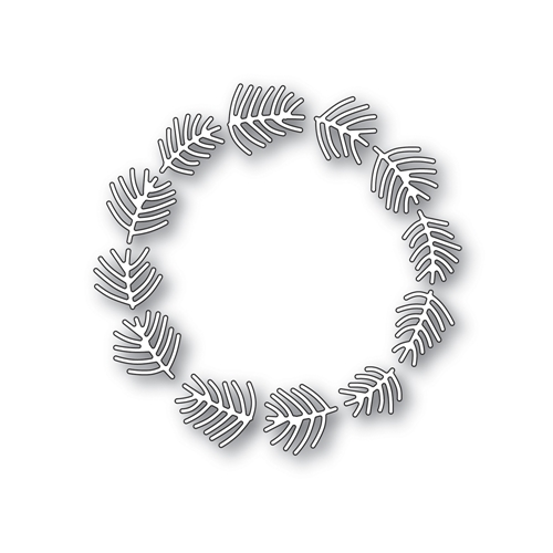 Simon Says Stamp PINE NEEDLE WREATH Wafer Dies S472 Making Spirits Bright Preview Image