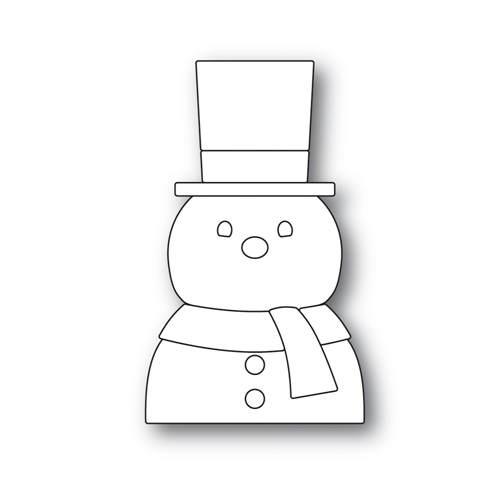 Simon Says Stamp PICTURE BOOK SNOWMAN Wafer Dies S495 Making Spirits Bright Preview Image