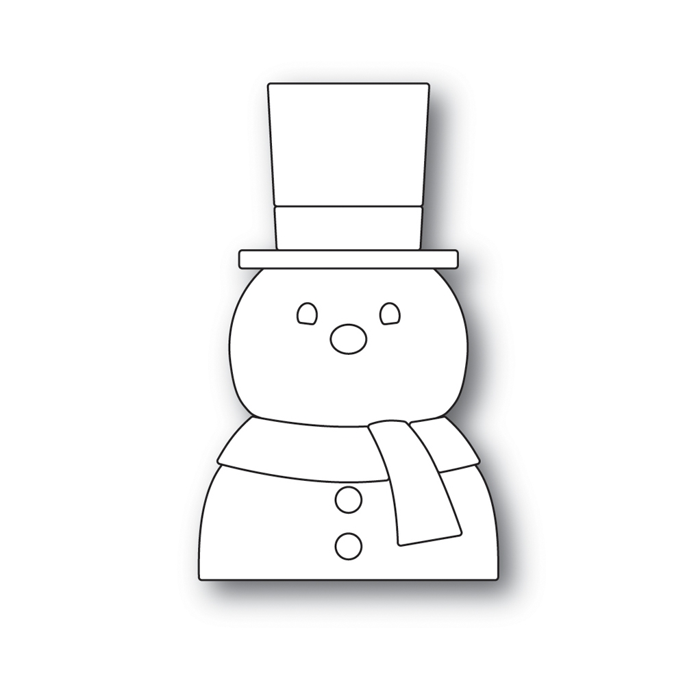 Simon Says Stamp PICTURE BOOK SNOWMAN Wafer Dies