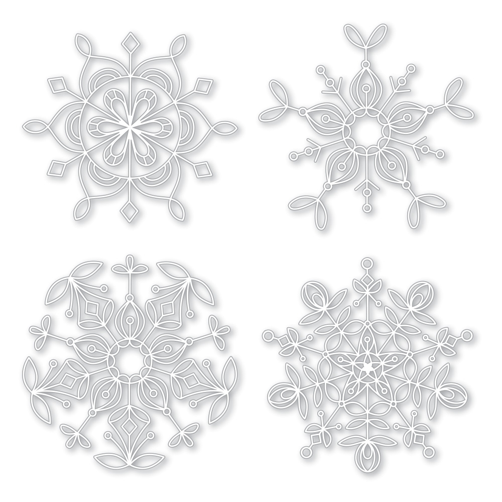 Simon Says Stamp Frozen Fractals Stencil Set
