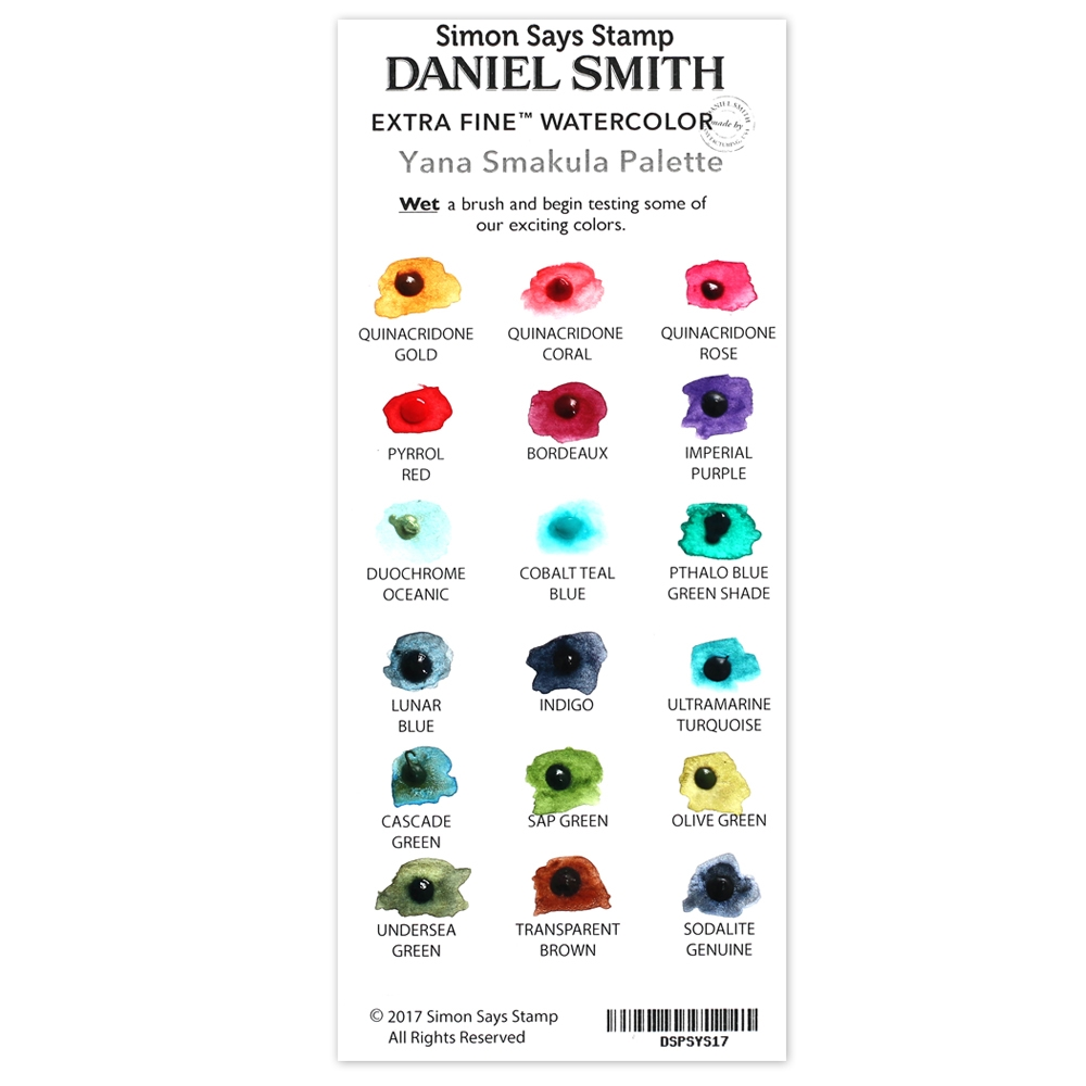Simon Says Stamp Daniel Smith YANA'S SET Watercolor Palette