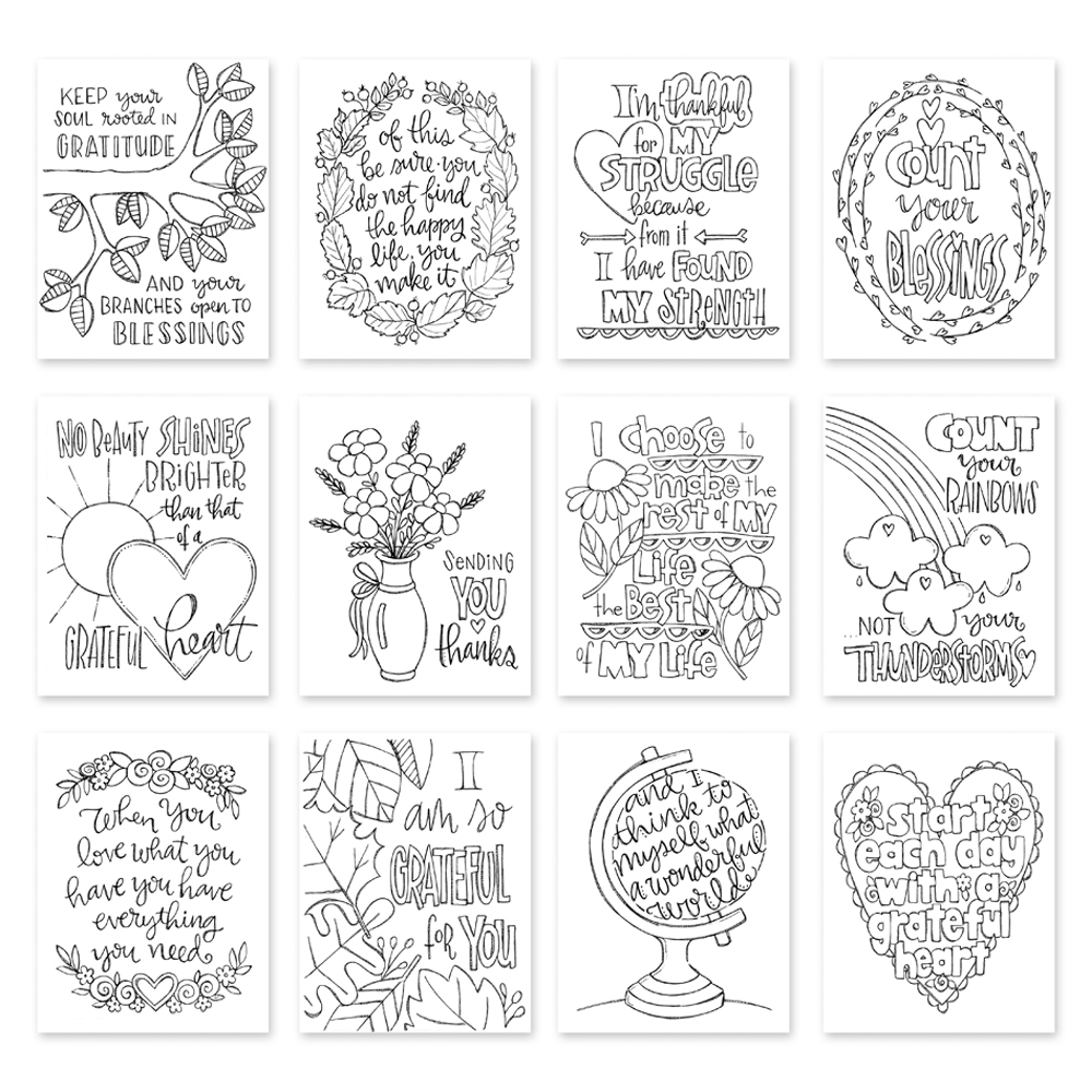 Simon Says Stamp Suzy's GRATITUDE Watercolor Prints