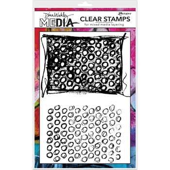Dina Wakley SCRIBBLY CIRCLES Clear Stamp Set MDC58380