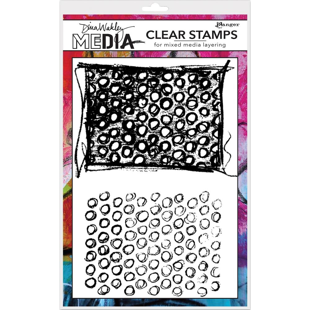Dina Wakley SCRIBBLY CIRCLES Clear Stamp Set MDC58380 zoom image