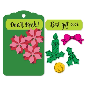 Sizzix Framelits SEASONAL TAG Combo Die and Stamp Set 662176