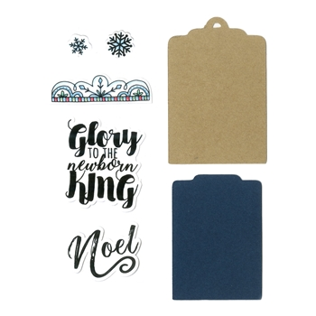 Sizzix Framelits GLORY TO THE KING Combo Die and Stamp Set 662464