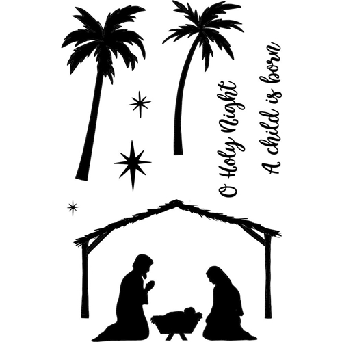 Jane's Doodles HOLY NIGHT Clear Stamp Set 743221 Preview Image
