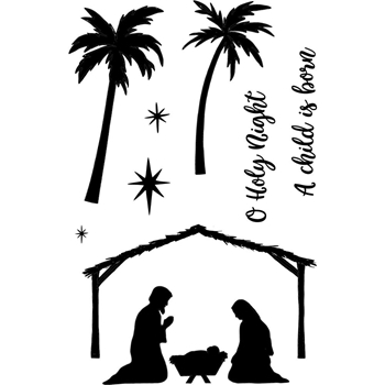 Jane's Doodles HOLY NIGHT Clear Stamp Set 743221