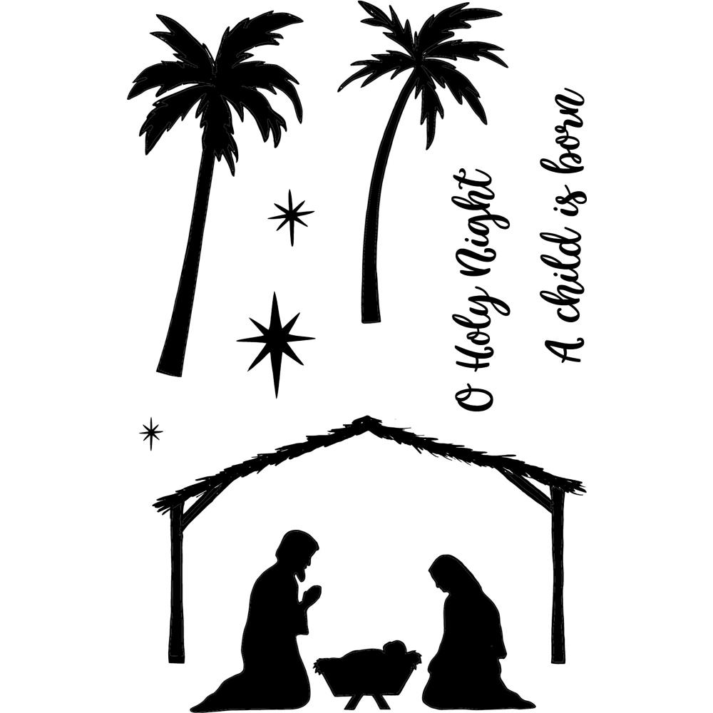 Jane's Doodles HOLY NIGHT Clear Stamp Set 743221 zoom image