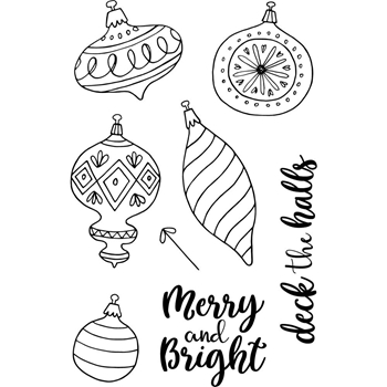Jane's Doodles DECK THE HALLS Clear Stamp Set 743207
