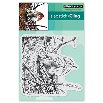 Penny Black Cling Stamp FEATHERS AND TWIGS 40-571