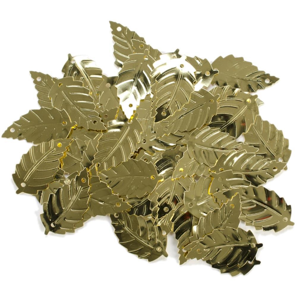Darice Large Leaf Gold Sequins