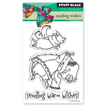 Penny Black Clear Stamp SENDING WISHES 30-452