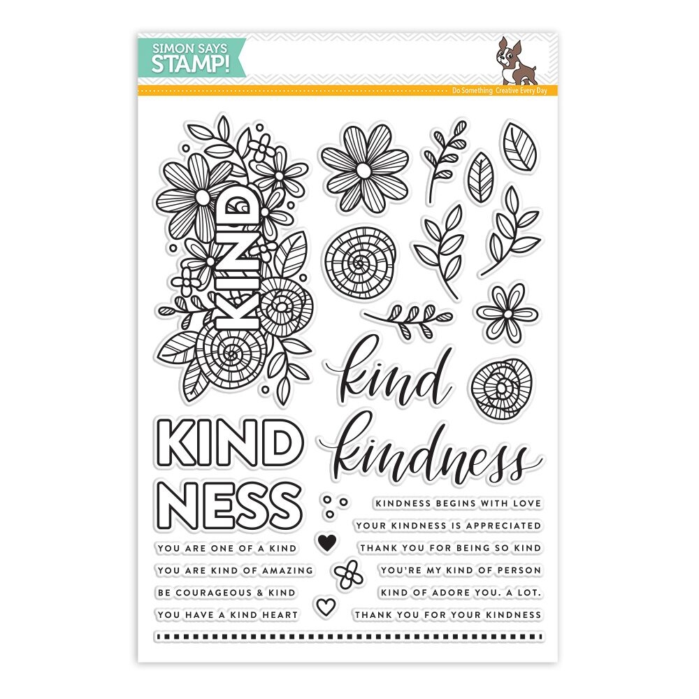 Simon Says Stamp Kind Flowers Clear Stamp Set