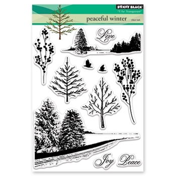 Penny Black Clear Stamps PEACEFUL WINTER 30-450