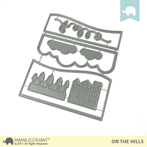 Mama Elephant ON THE HILLS DIE Creative Cuts Steel Die Set Preview Image