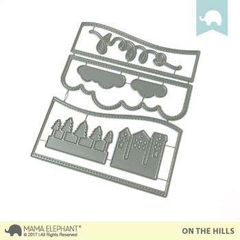 Mama Elephant ON THE HILLS DIE Creative Cuts Steel Die Set