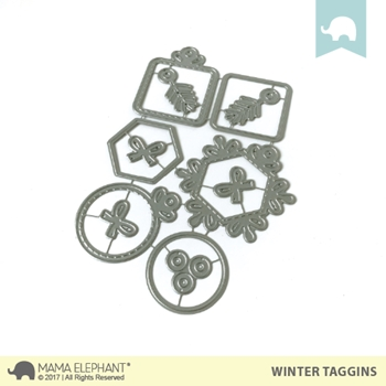 Mama Elephant WINTER TAGGINS Creative Cuts Steel Die Set