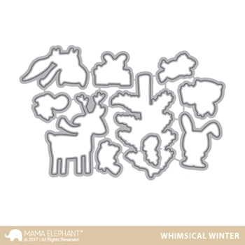 Mama Elephant WHIMSICAL WINTER DIE Creative Cuts Steel Die Set