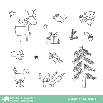 Mama Elephant Clear Stamps WHIMSICAL WINTER