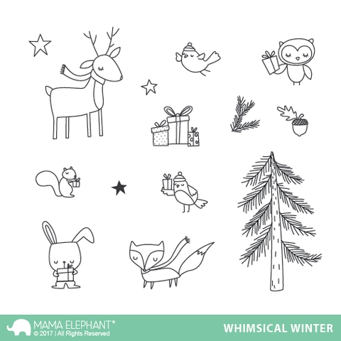Mama Elephant Clear Stamps WHIMSICAL WINTER zoom image