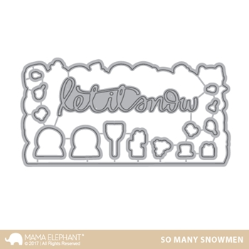 Mama Elephant SO MANY SNOWMEN DIE Creative Cuts Steel Die Set