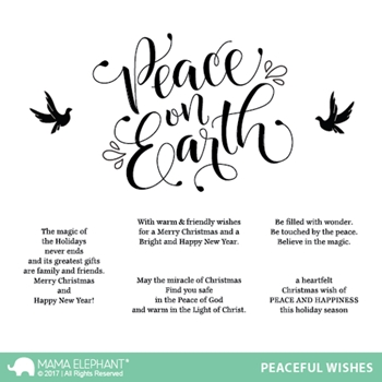 Mama Elephant Clear Stamps PEACEFUL WISHES