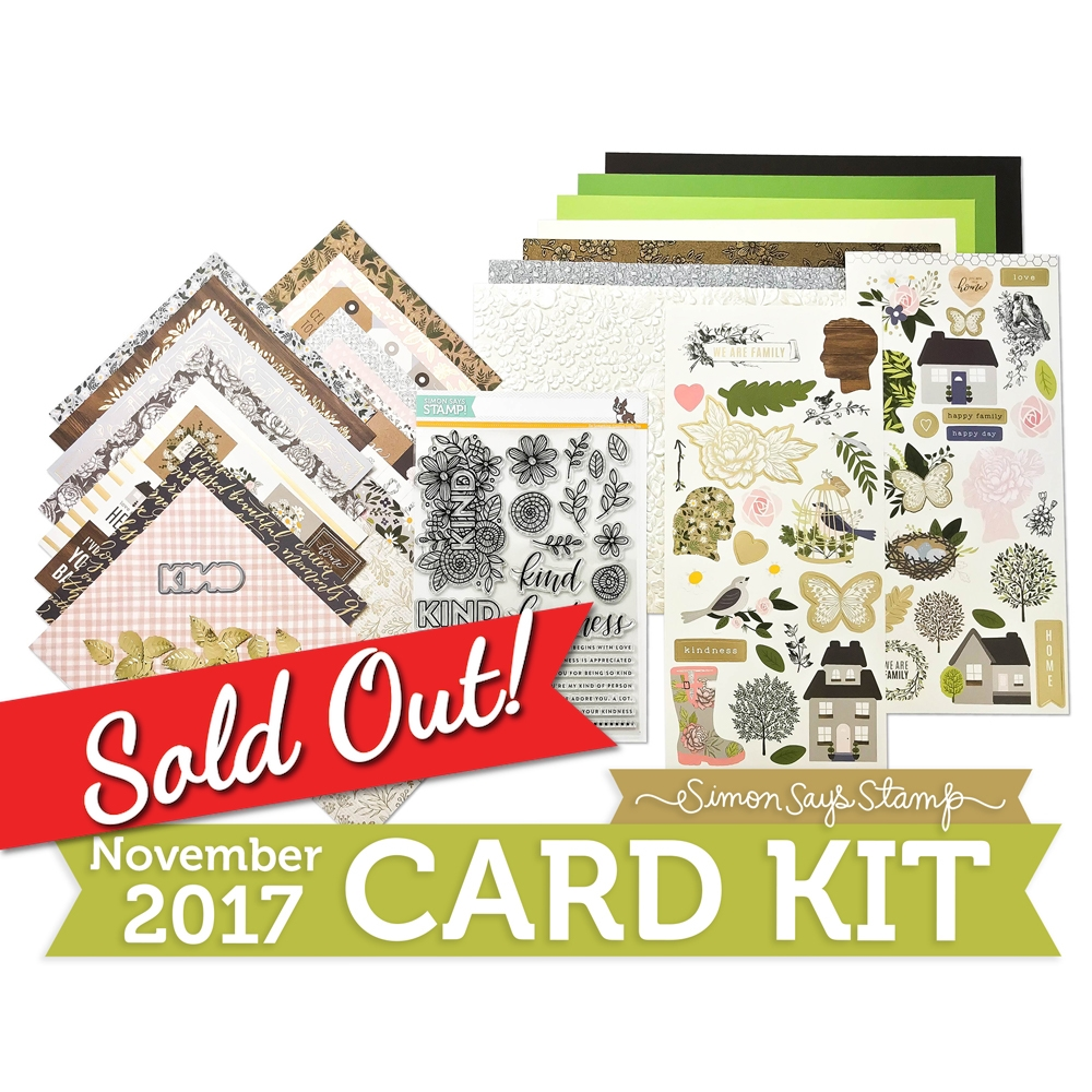 Simon Says Stamp Card Kit of The Month NOVEMBER 2017 KIND FLOWERS CK1117 zoom image