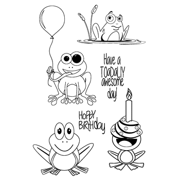 Joy Clair HOPPY BIRTHDAY Clear Stamp Set CLR-02059