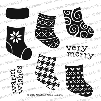 Newton's Nook Designs STYLISH STOCKINGS Clear Stamp Set NN1710S04
