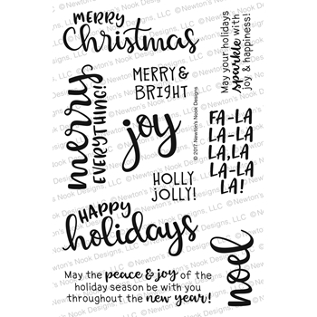 Newton's Nook Designs SENTIMENTS OF THE SEASON Clear Stamp Set NN1710S06