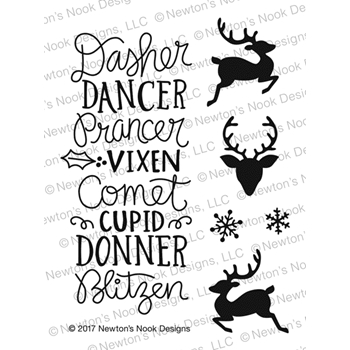 Newton's Nook Designs REINDEER ROLL CALL Clear Stamp Set NN1710S07