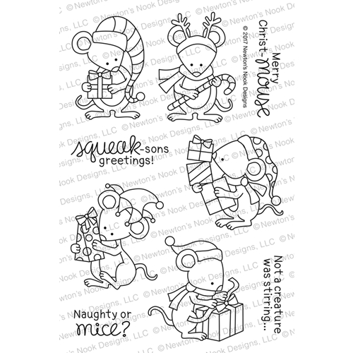 Newton's Nook Designs NAUGHTY OR MICE Clear Stamp Set NN1710S03 Preview Image
