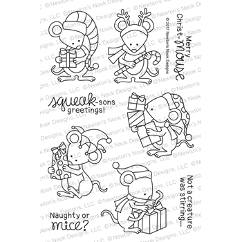 Newton's Nook Designs NAUGHTY OR MICE Clear Stamp Set NN1710S03