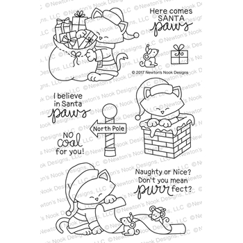 Newton's Nook Designs SANTA PAWS NEWTON Clear Stamp Set NN1710S01