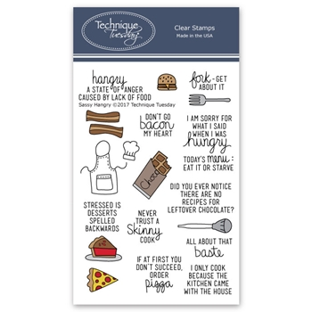 Technique Tuesday SASSY HANGRY Clear Stamps 02577